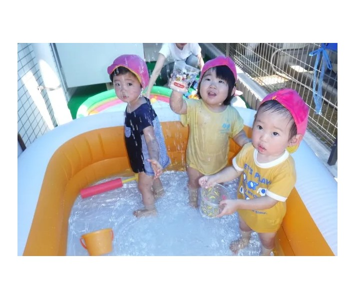 水遊び レイクタウン 保育園